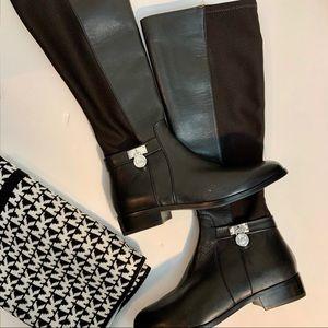 Michael Kors Hamilton Tall Leather Boots Size 6
